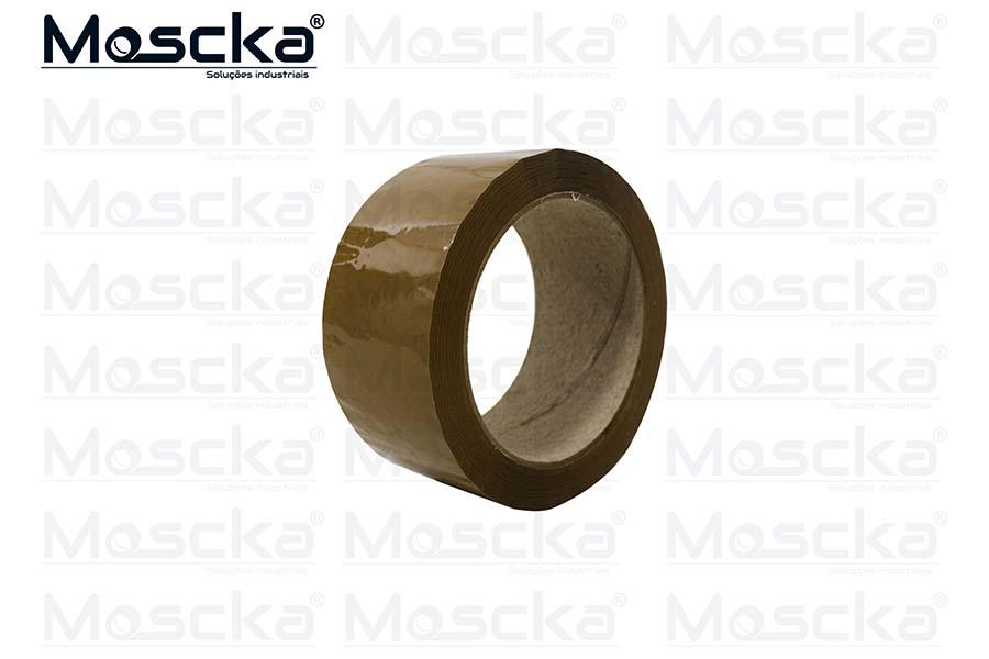 Fita adesiva para embalagem marrom